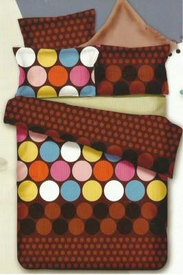 JORDEN Cotton Linen Blend 3D Printed Double Bedsheet