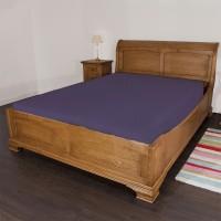 Scala Cotton Striped Double Bedsheet(Bedsheet, Purple)
