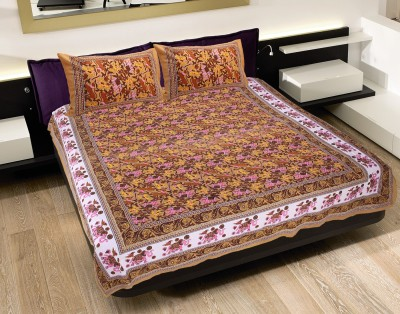 N DeCor Cotton Floral King sized Double Bedsheet
