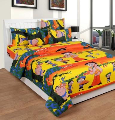Saluja Enterprises Cotton Printed King sized Double Bedsheet