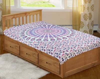 R.A. Jewelers Cotton Abstract Single Bedsheet