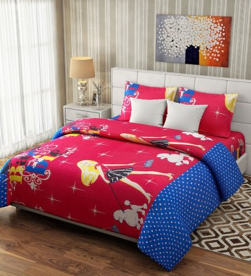 Fresh From Loom Cotton Cartoon Double Bedsheet