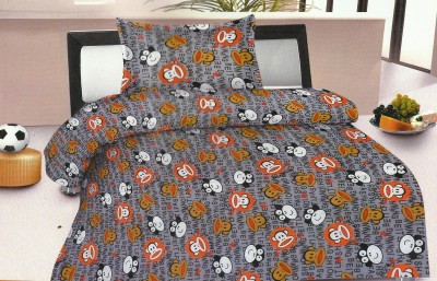 Madhavs Cotton Cartoon Single Bedsheet