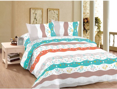 Goodkarma Polyester Geometric Double Bedsheet