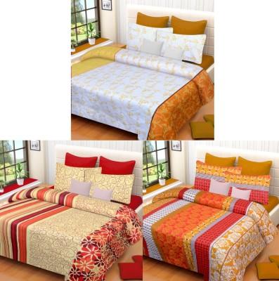 Brand Decor Cotton Geometric Double Bedsheet