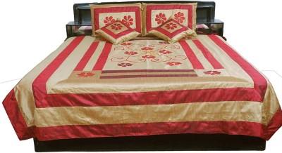 Pioneerpragati Silk Printed Double Bedsheet