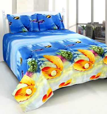 WONDER TEX INDIA Polyester 3D Printed Double Bedsheet