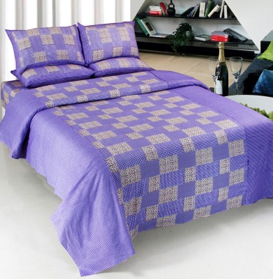 Optimistic Home Furnishing Cotton Checkered Double Bedsheet