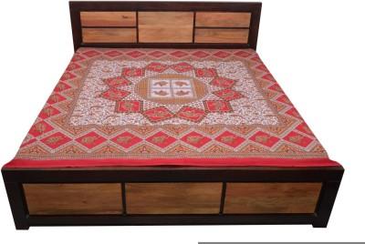 Uttam Enterprises Cotton Embroidered Double Bedsheet