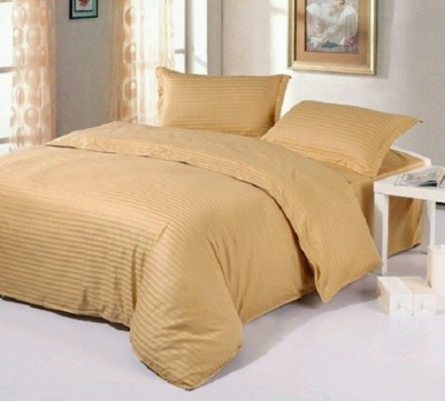 Sparklings Satin Striped Double Bedsheet