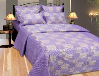 Decor Vatika Cotton Checkered Double Bedsheet