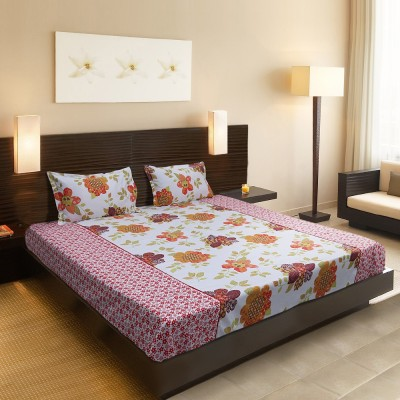 SRF Cotton Abstract Double Bedsheet