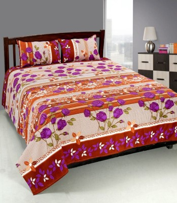 Optimistic Home Furnishing Cotton Embroidered Single Bedsheet