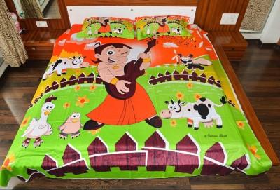 Indian Rack Cotton Cartoon Double Bedsheet