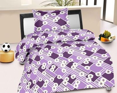 Jiya Decor Cotton Abstract Single Bedsheet
