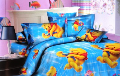 Amk Home Decor Polycotton Abstract Queen sized Double Bedsheet