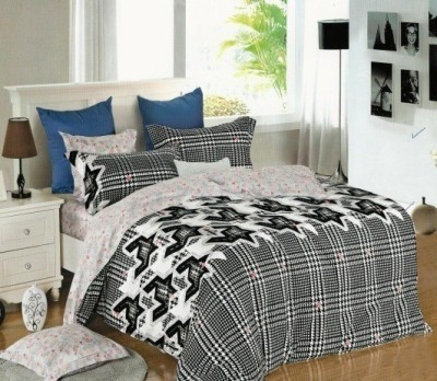 Sassoon Cotton Checkered Queen sized Double Bedsheet