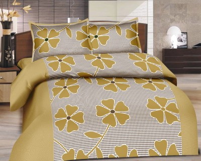 Adithya Cotton Floral Double Bedsheet