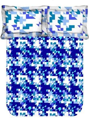 Axotic Cotton Geometric Double Bedsheet