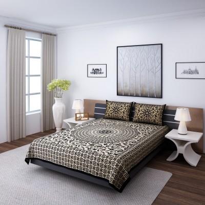 eCraftIndia Cotton Floral Double Bedsheet