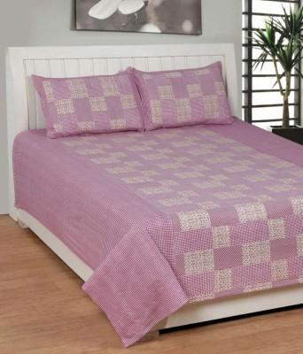 Shopgalore Cotton Checkered Double Bedsheet