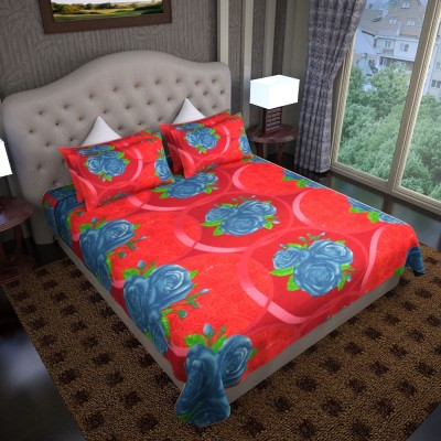 Graffiti Home Cotton Printed Double Bedsheet