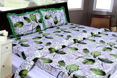 THOIDAM Polycotton Self Design Double Bedsheet