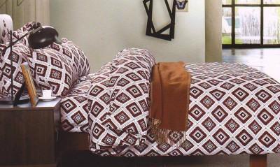 Wrap Polyester Geometric Double Bedsheet