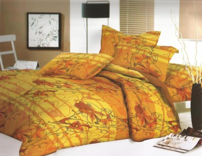 SHREEJEE Cotton Floral Double Bedsheet