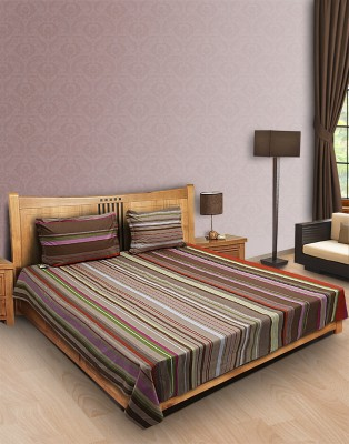Home Stylerz Cotton Striped Double Bedsheet