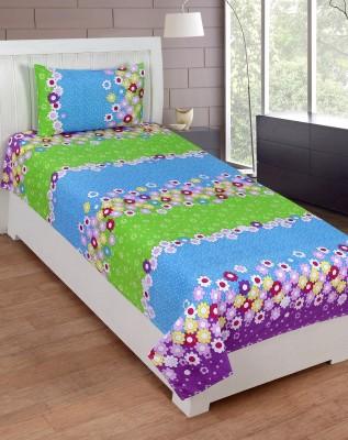 SHREEJEE Polycotton Floral Single Bedsheet