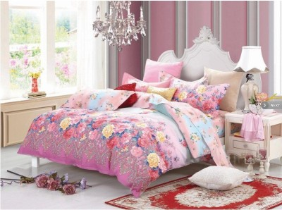 Stylla Home Cotton Floral Double Bedsheet