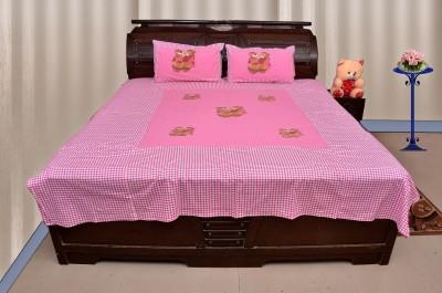 Sartaj Cotton Self Design Double Bedsheet