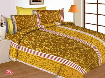 Buy Clues Cotton Paisley Double Bedsheet