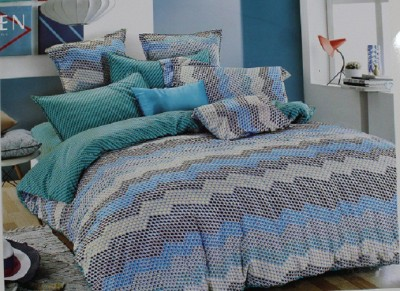 ROSS Cotton Geometric King sized Double Bedsheet
