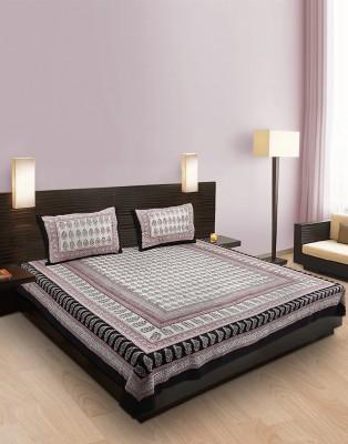 Kalakari India Cotton Printed King sized Double Bedsheet