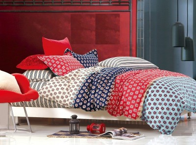 Zigma Collections Cotton Abstract King sized Double Bedsheet