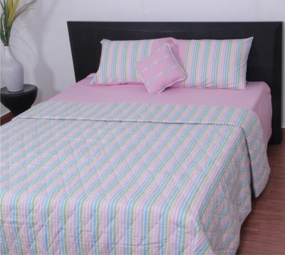 Thuhil Cotton Striped King sized Double Bedsheet