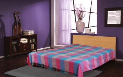 Dhrohar Cotton Checkered Double Bedsheet