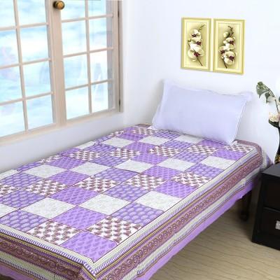 Ethnic Rajasthan Cotton Geometric Single Bedsheet