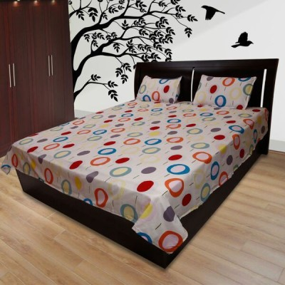 Comfortica Collections Cotton Geometric Double Bedsheet