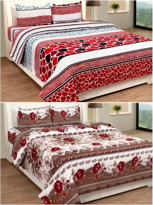SLICK Polycotton Checkered Double Bedsheet