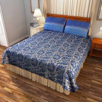 Portico New York Cotton Printed Double Bedsheet(1 Double Bed Sheet With 2 Pillow Cover, Multicolor) best price on Flipkart @ Rs. 1999