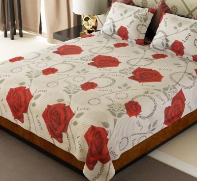 omne Cotton Floral Double Bedsheet