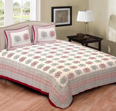 Jaipurse Cotton Printed Double Bedsheet