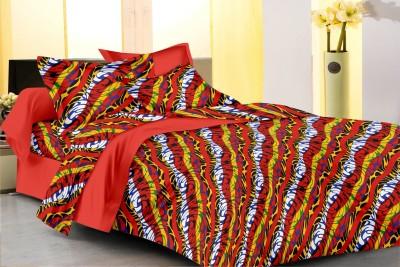Metro Living Cotton Geometric Single Bedsheet