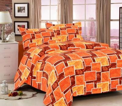 Jiya Decor Cotton Abstract Double Bedsheet