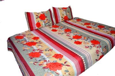 NIVRATI Polycotton Floral Single Bedsheet