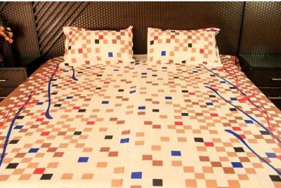 Ramabhakta Cotton Geometric Double Bedsheet