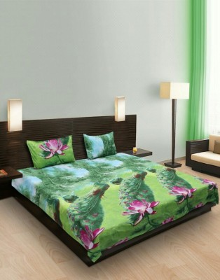 satviham Polycotton Floral Double Bedsheet